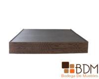Base King Size de madera mdf color nogal