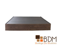 Base Queen Size de madera mdf color nogal
