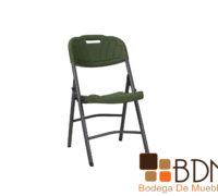 Silla plegable para exterior con asiento y respaldo de plastico