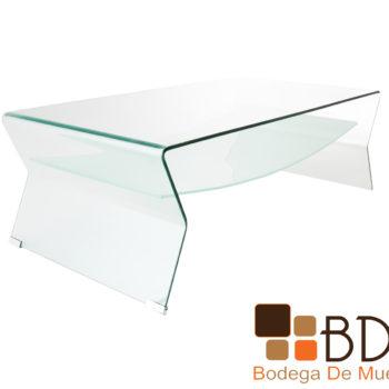Mesa de centro de cristal para sala