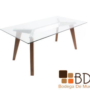 Mesa para comedor moderna en color nogal