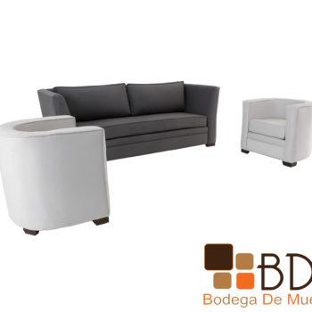 Sala elegante moderna con sillones y sofa