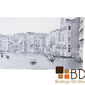 Cuadro decorativo estilo clasico en blanco y negro imagen Venecia