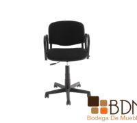 Silla para oficina moderna con brazos en color negro