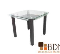 Mesa moderna para comedor con cubierta de cristal
