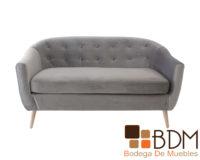 Sofa moderno en madera y tapiz suede para sala