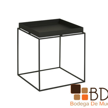 Mesa Lateral Moderna de Metal Color Negro