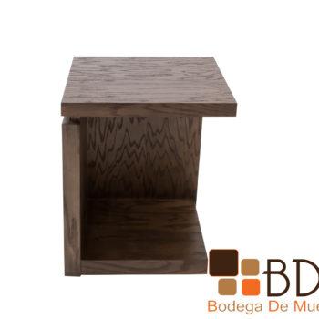 Mesa lateral en madera MDF enchapado encino