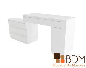 Consola moderna en color blanco con cajones
