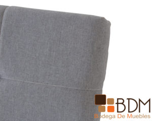 Cabecera individual color gris